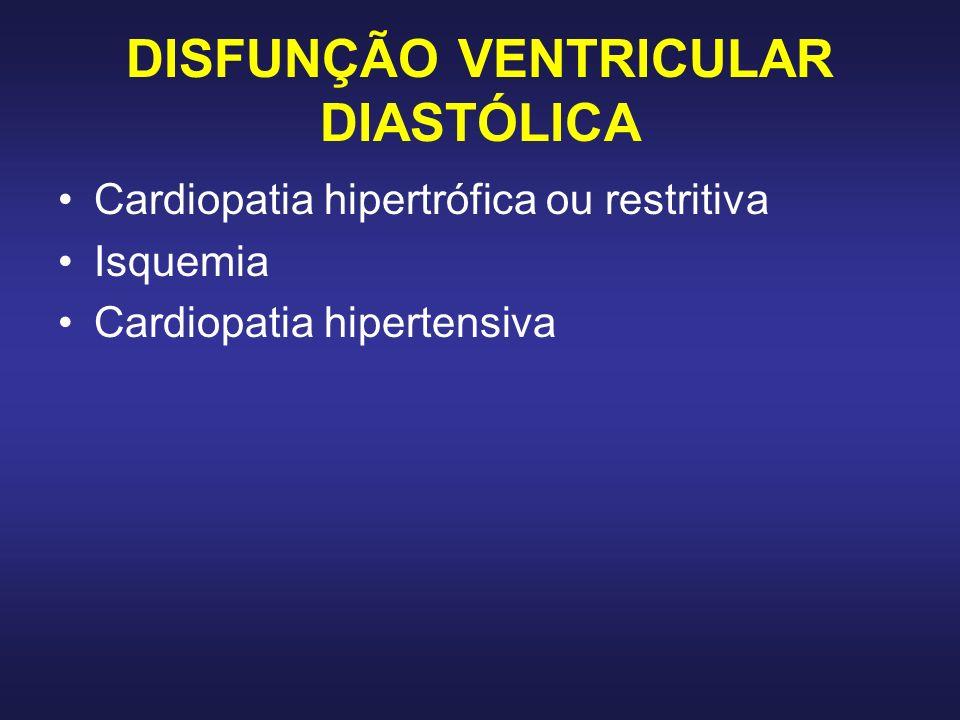 DISFUNÇÃO VENTRICULAR DIASTÓLICA