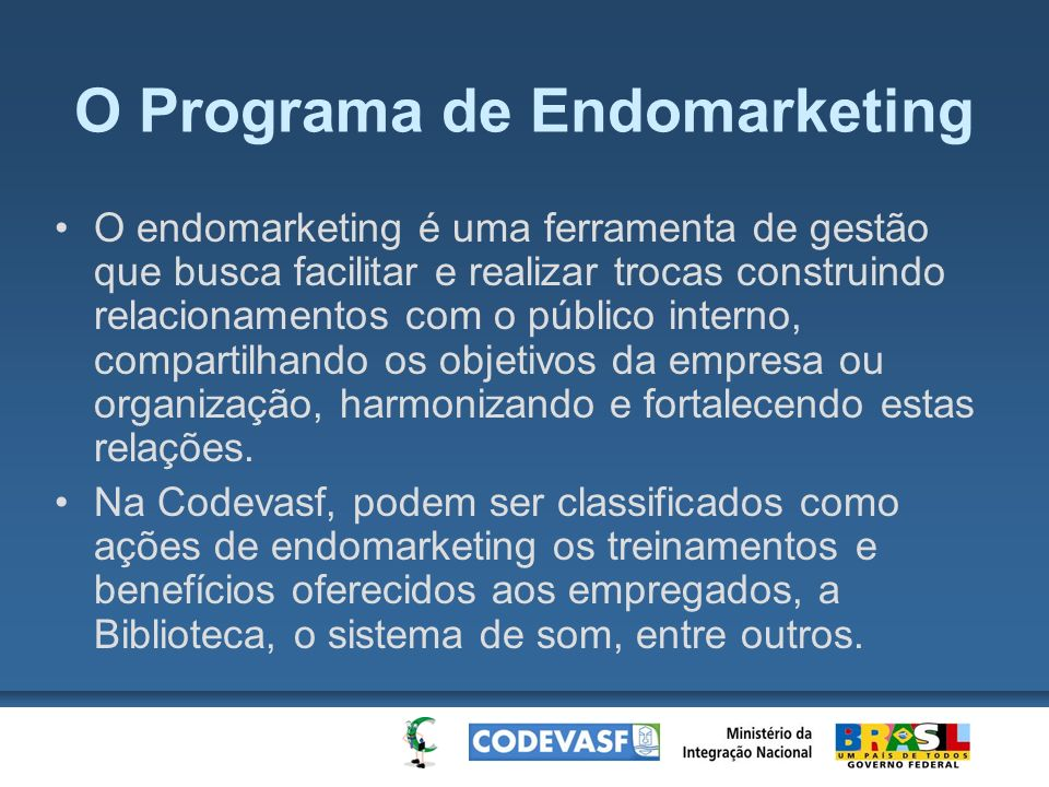 O Programa de Endomarketing
