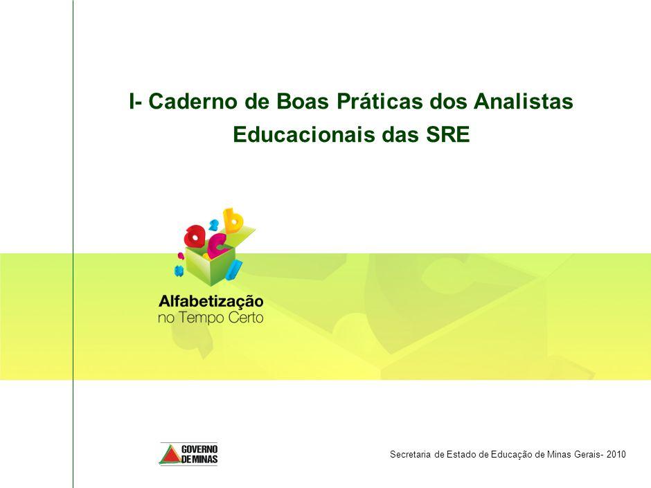 I- Caderno de Boas Práticas dos Analistas Educacionais das SRE
