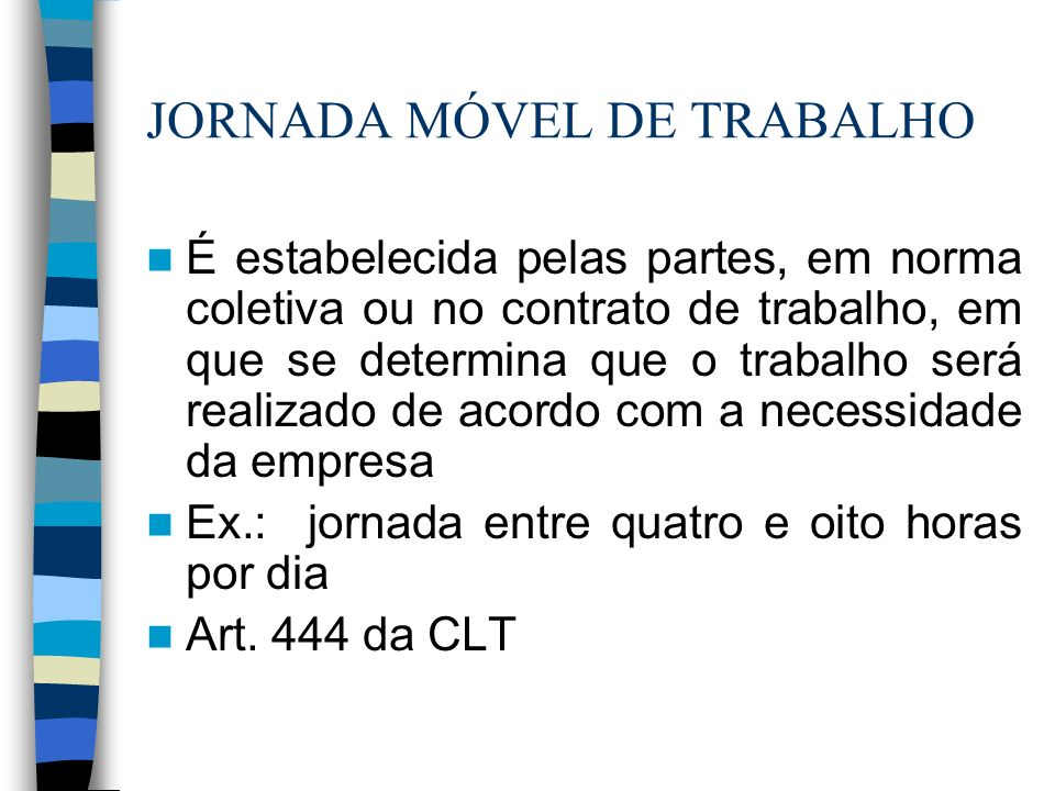 JORNADA MÓVEL DE TRABALHO