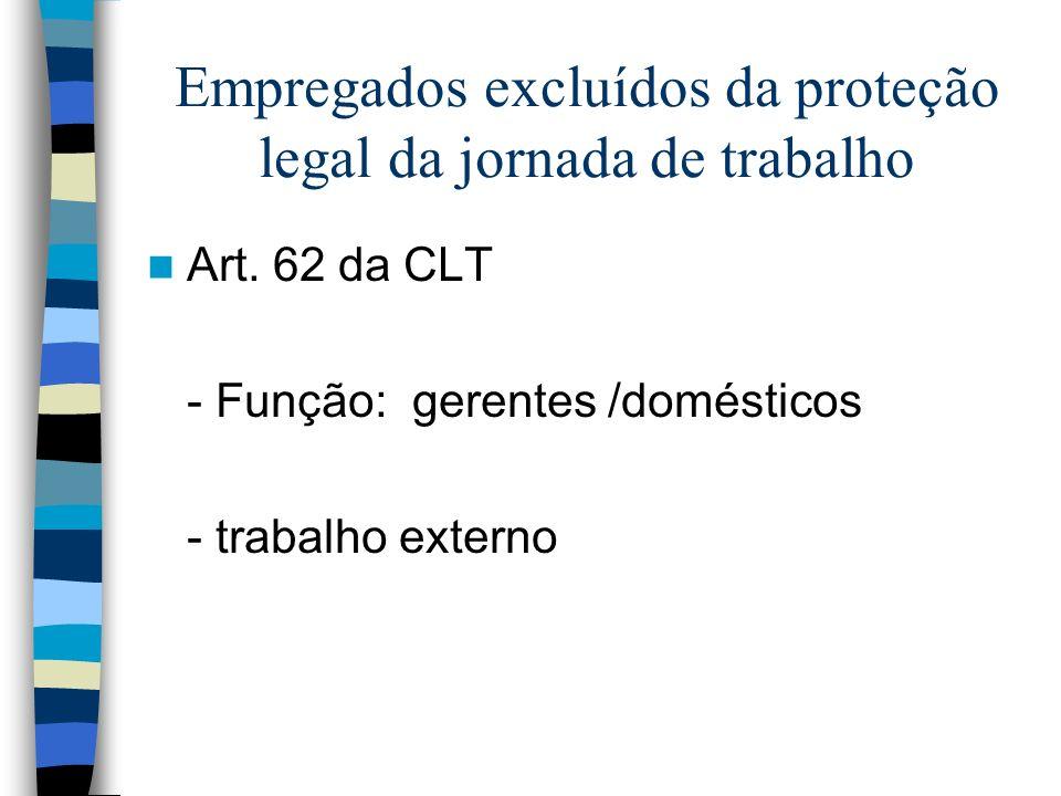 Empregados excluídos da proteção legal da jornada de trabalho