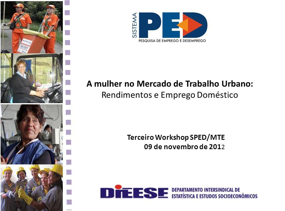 A mulher no Mercado de Trabalho Urbano: Rendimentos e Emprego Doméstico