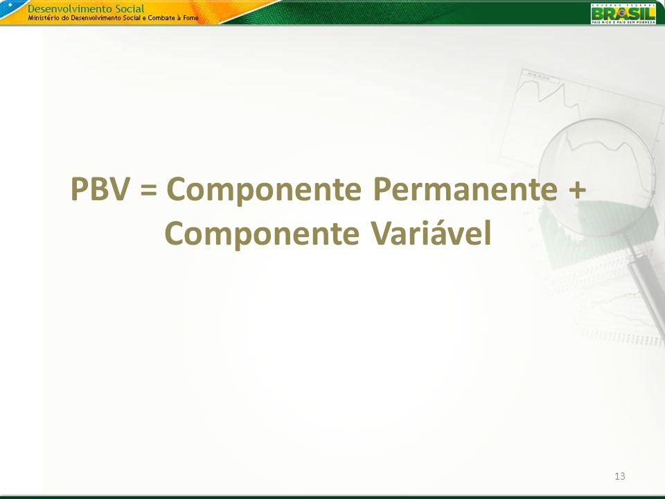 PBV = Componente Permanente + Componente Variável