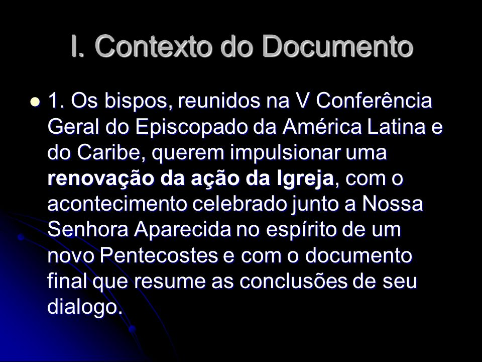 I. Contexto do Documento