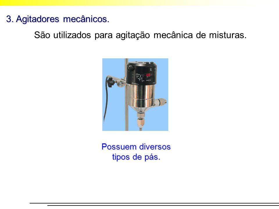 São utilizados para agitação mecânica de misturas.