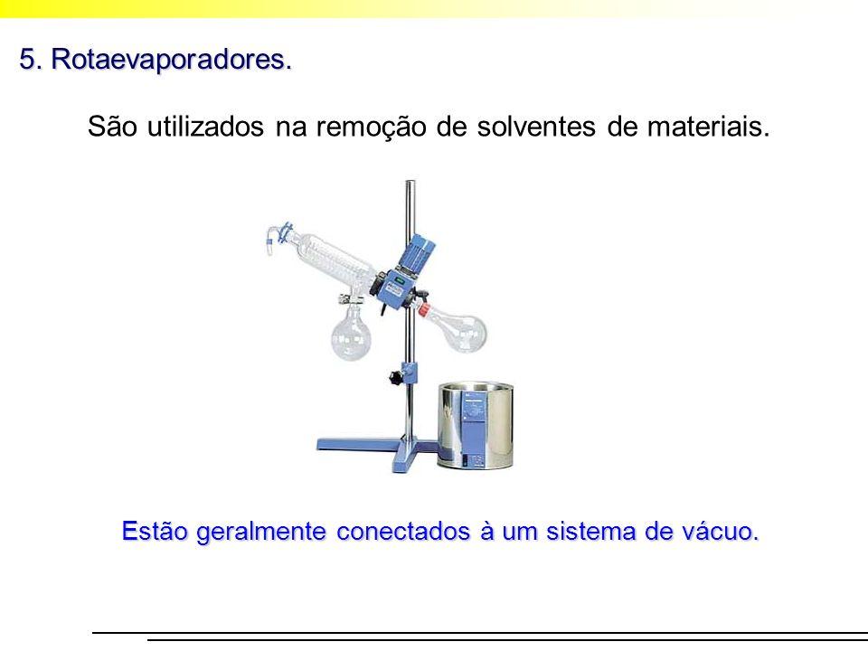 São utilizados na remoção de solventes de materiais.