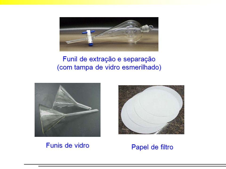Funil de extração e separação (com tampa de vidro esmerilhado)