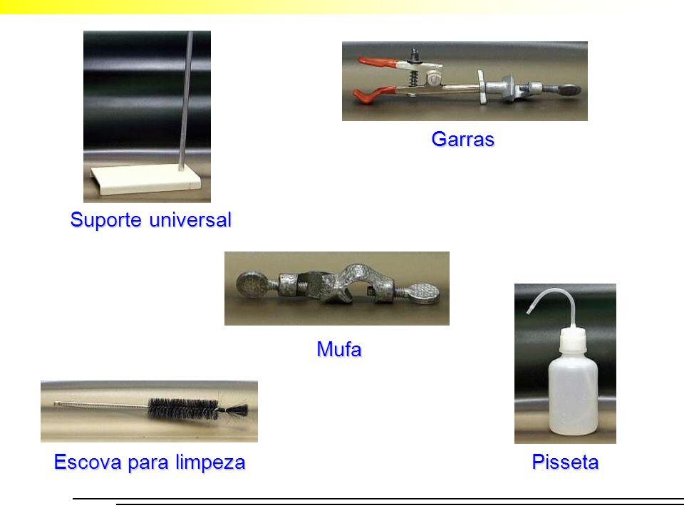 Garras Suporte universal Mufa Escova para limpeza Pisseta