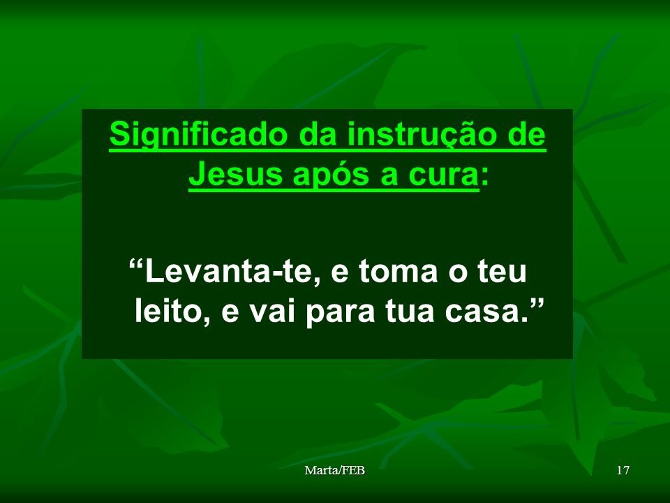 Significado da instrução de Jesus após a cura: