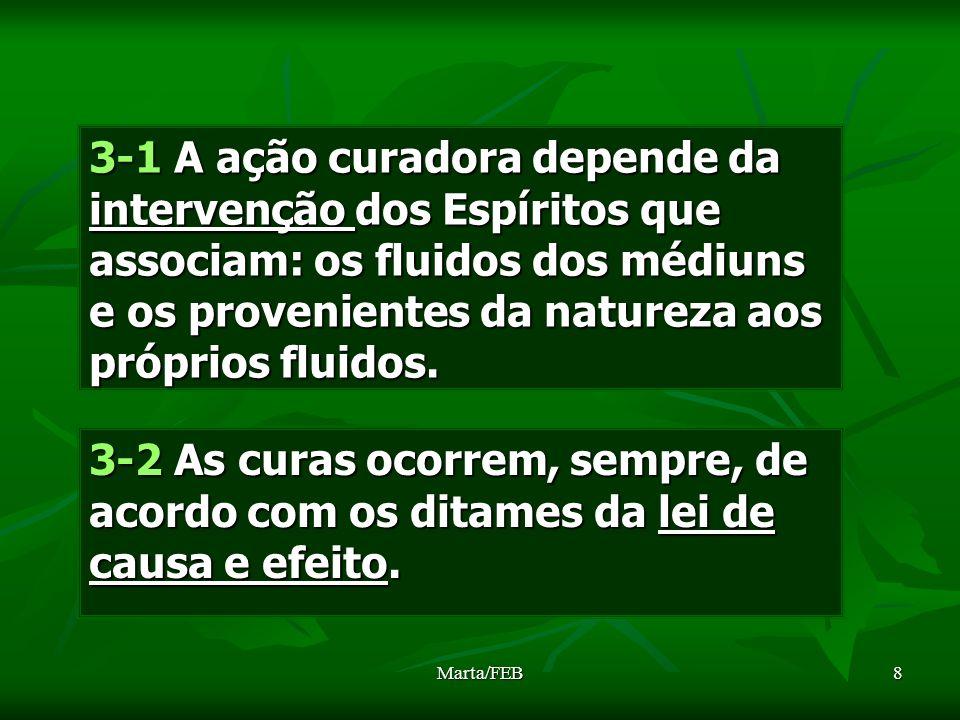 3-1 A ação curadora depende da intervenção dos Espíritos que associam: os fluidos dos médiuns e os provenientes da natureza aos próprios fluidos.
