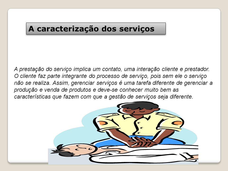 A caracterização dos serviços