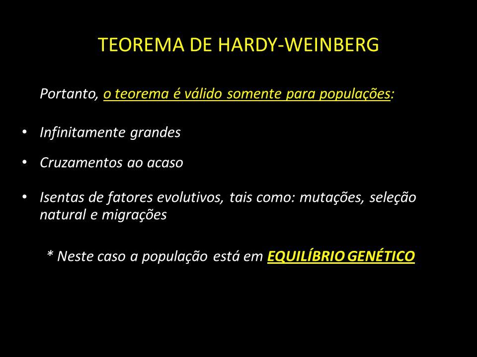 TEOREMA DE HARDY-WEINBERG