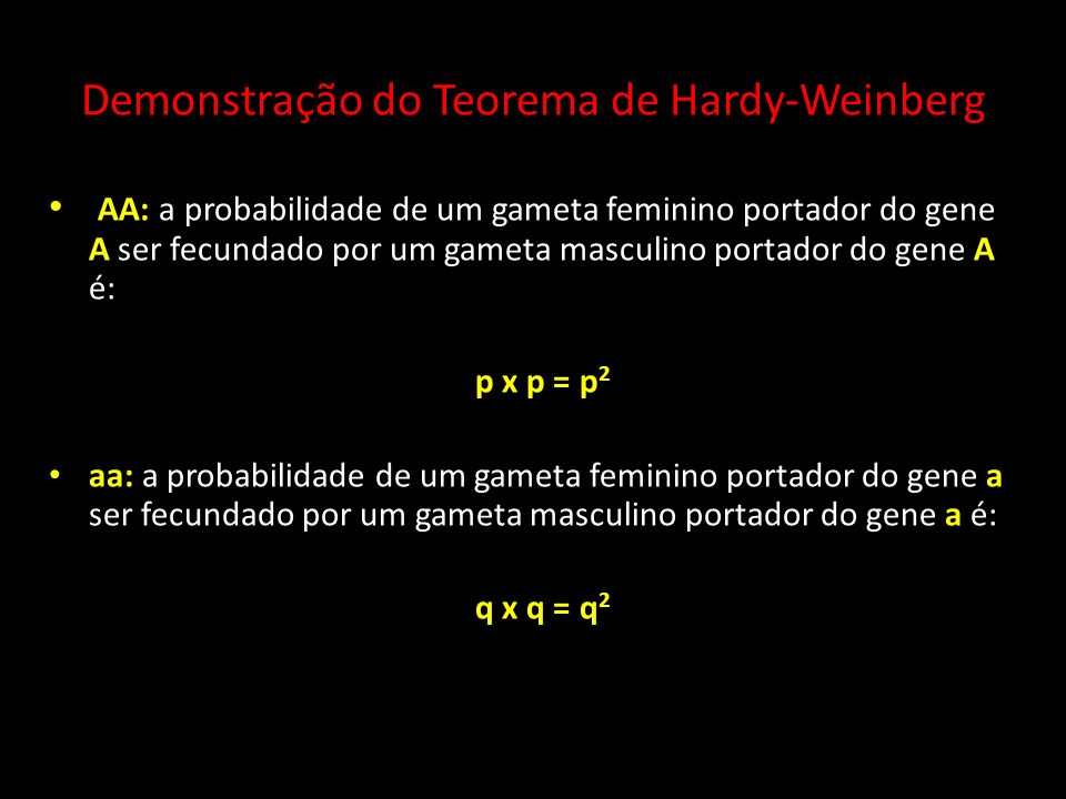 Demonstração do Teorema de Hardy-Weinberg
