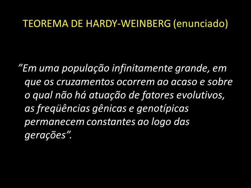 TEOREMA DE HARDY-WEINBERG (enunciado)