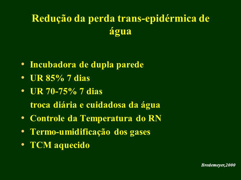 Redução da perda trans-epidérmica de água