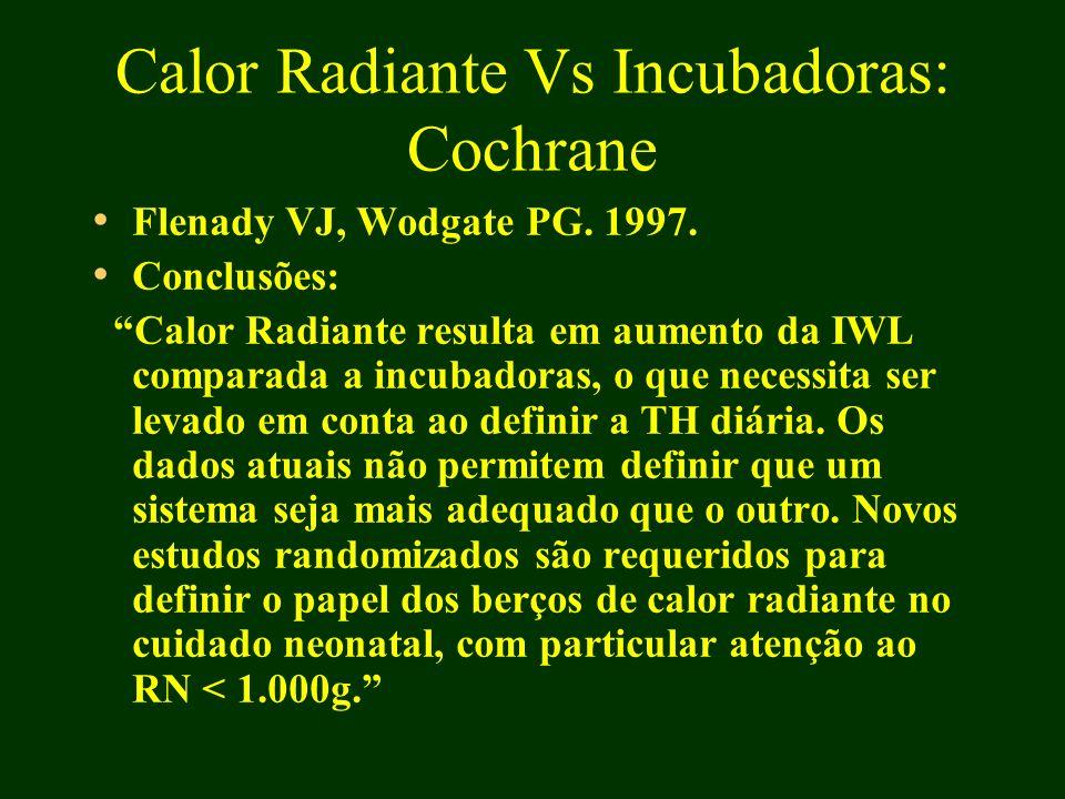 Calor Radiante Vs Incubadoras: Cochrane