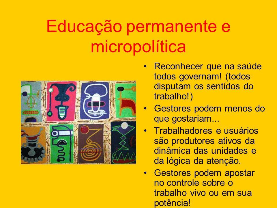 Educação permanente e micropolítica