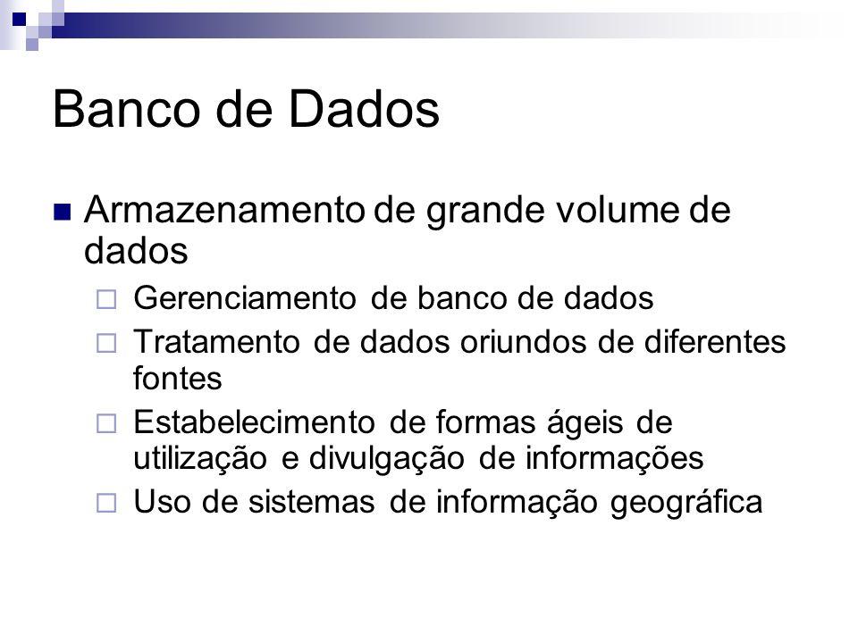 Banco de Dados Armazenamento de grande volume de dados