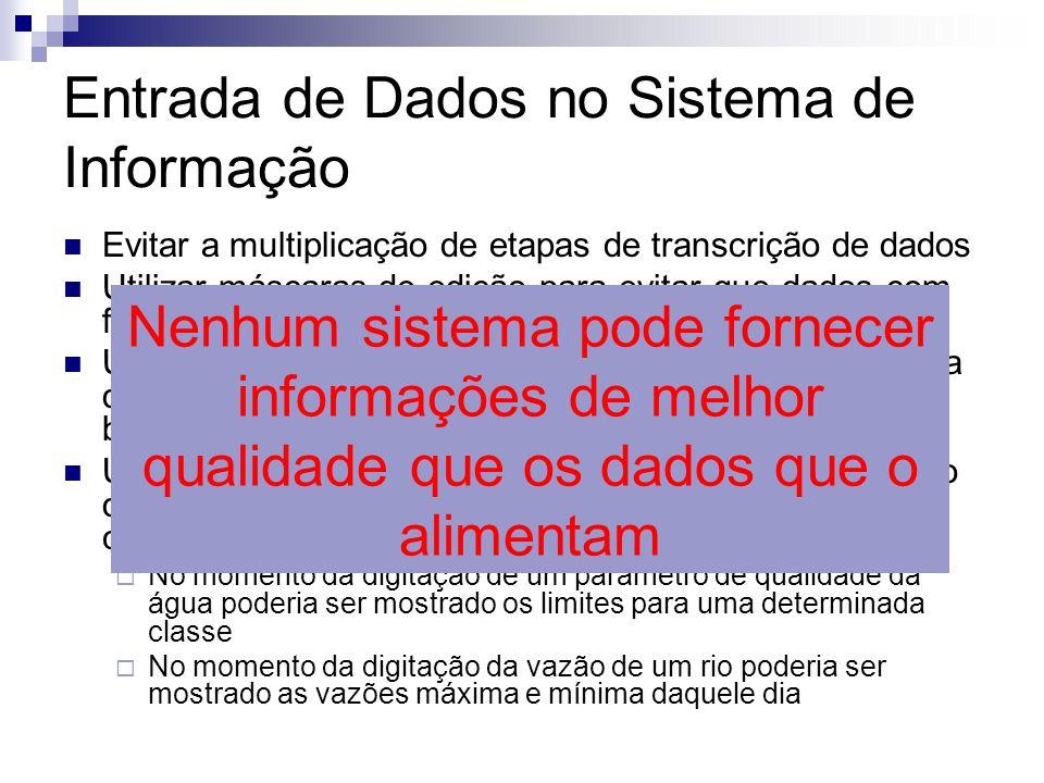 Entrada de Dados no Sistema de Informação