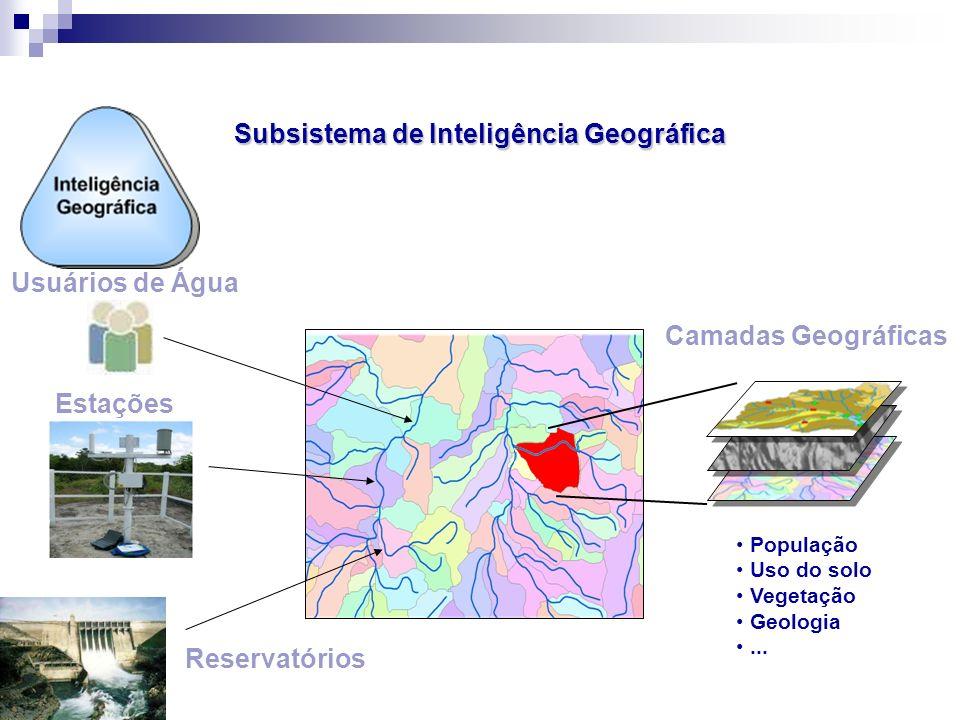 Usuários de Água Camadas Geográficas Estações Reservatórios