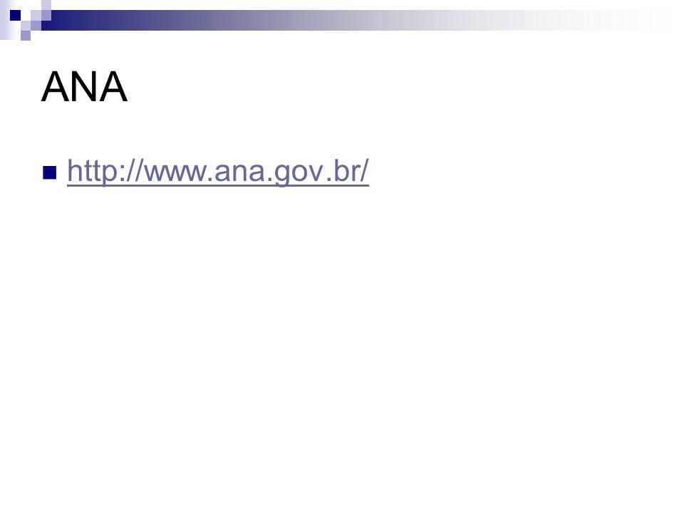 ANA http://www.ana.gov.br/