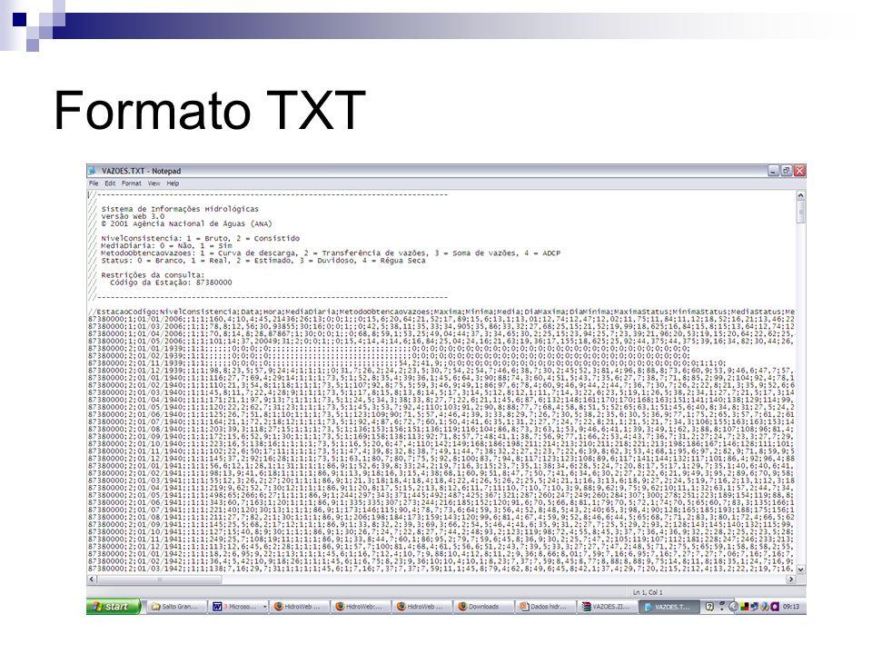 Formato TXT