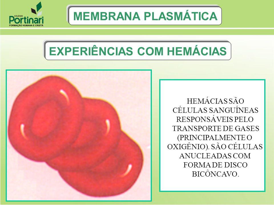 EXPERIÊNCIAS COM HEMÁCIAS