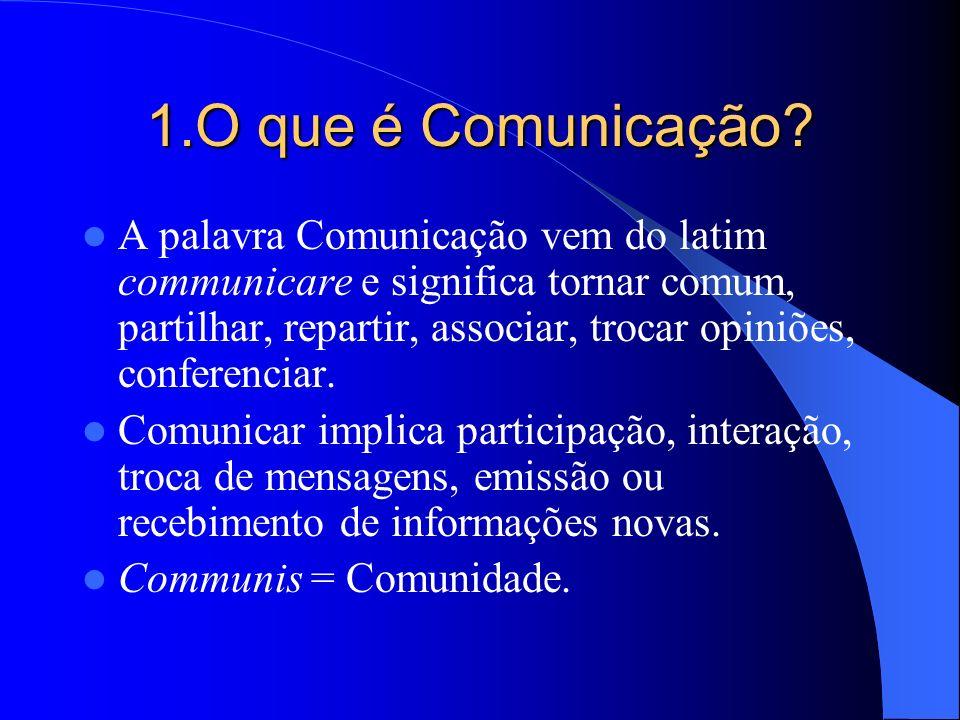 1.O que é Comunicação
