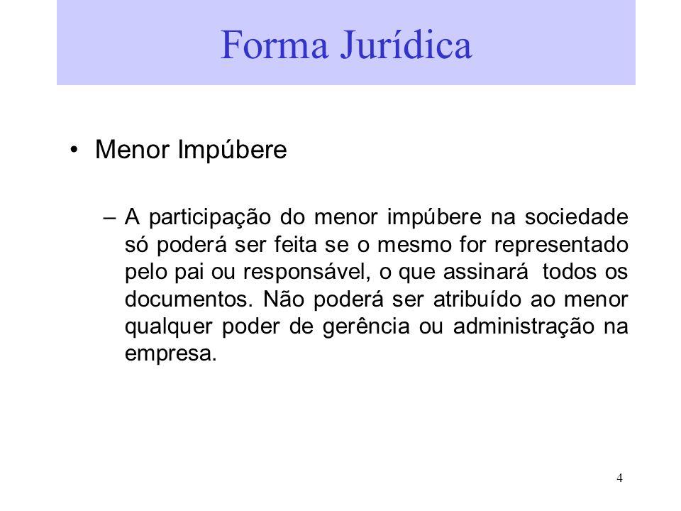 Forma Jurídica Menor Impúbere