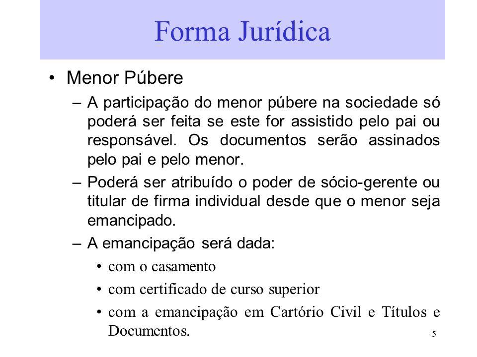 Forma Jurídica Menor Púbere