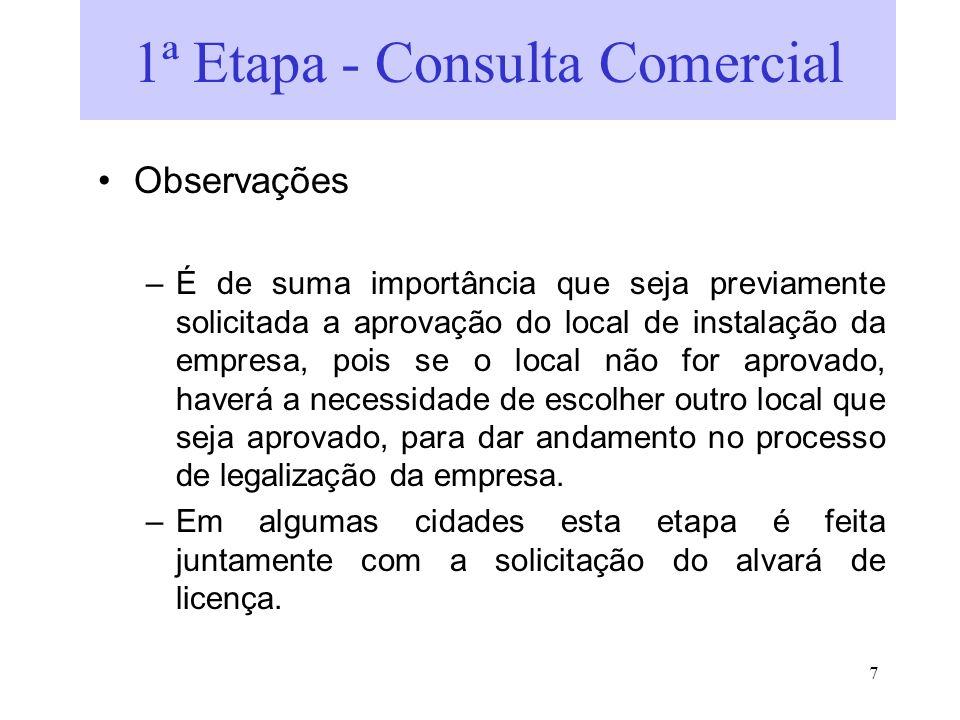 1ª Etapa - Consulta Comercial
