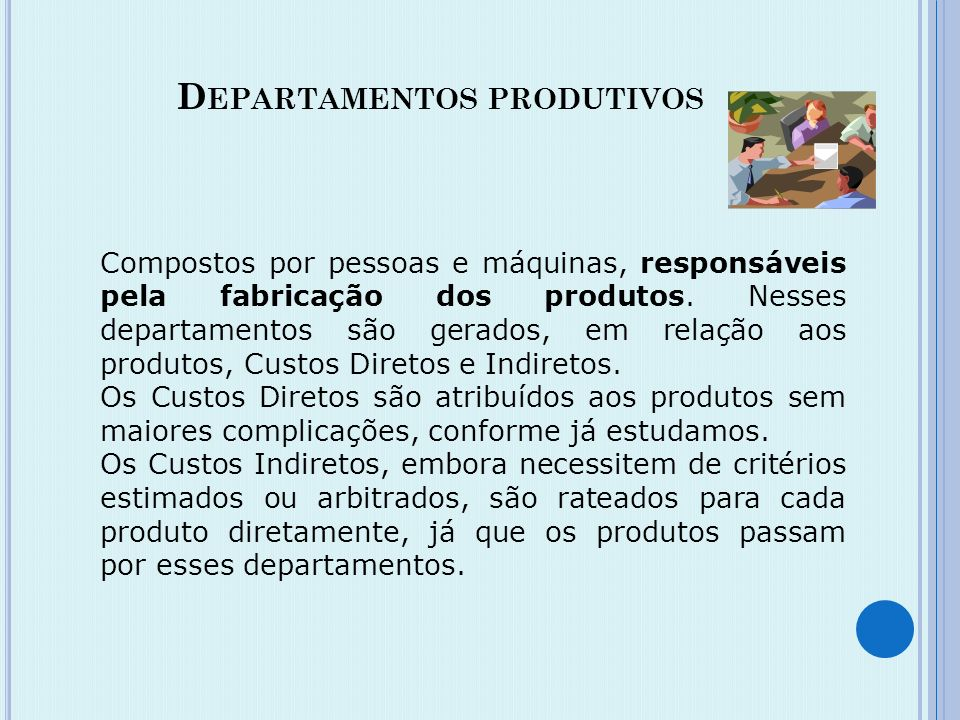 Departamentos produtivos
