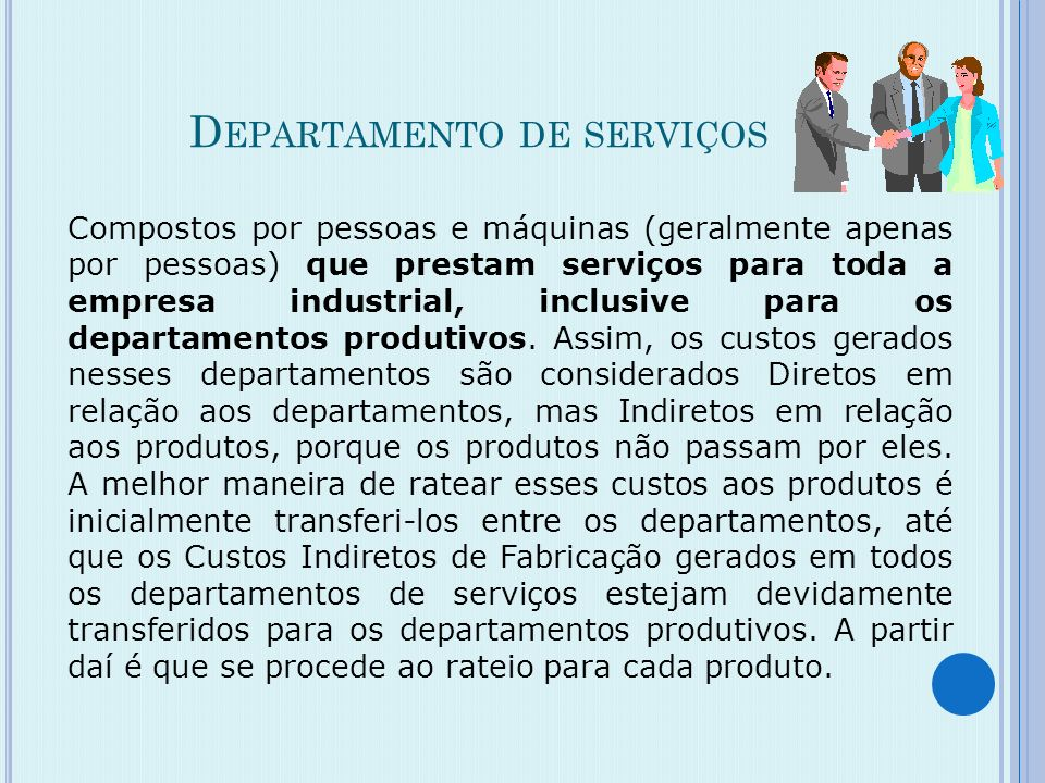 Departamento de serviços