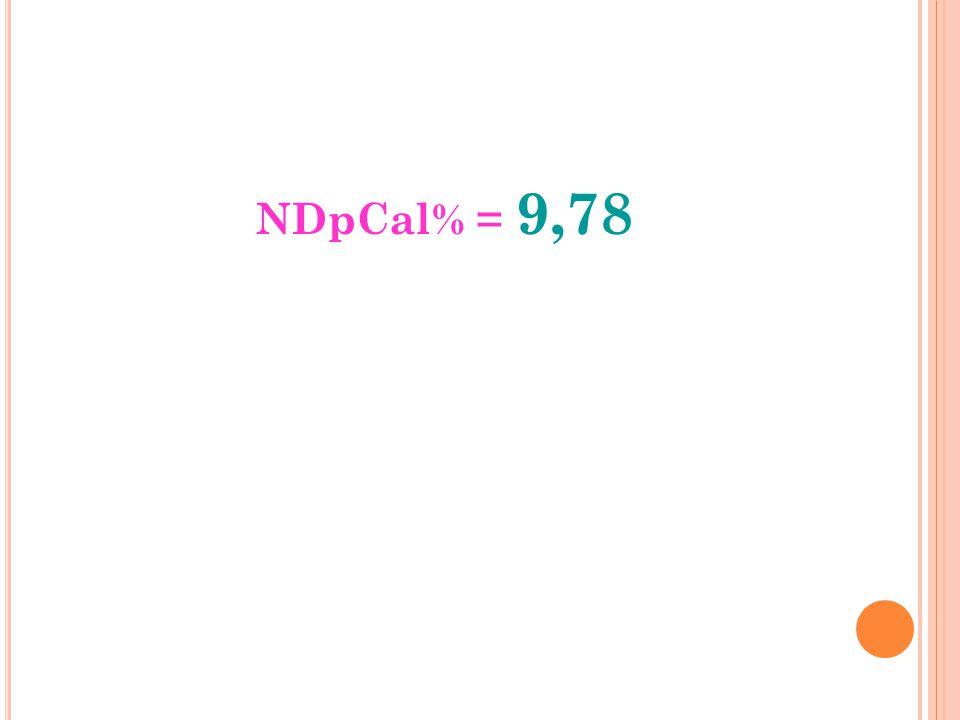 NDpCal% = 9,78