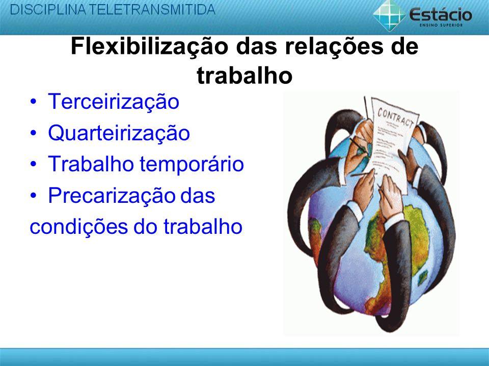 Flexibilização das relações de trabalho