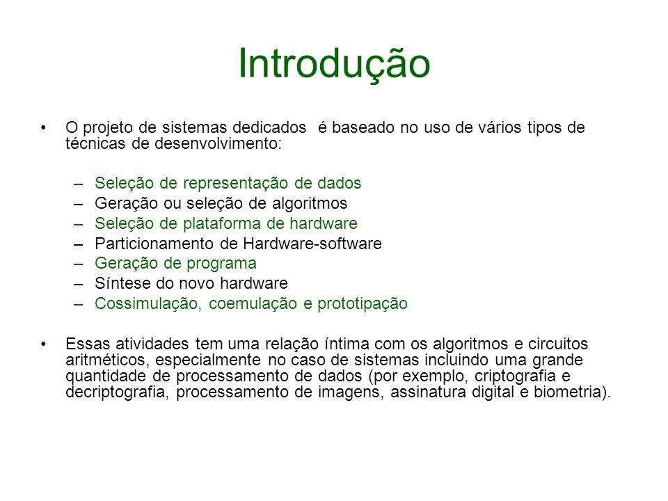Introdução O projeto de sistemas dedicados é baseado no uso de vários tipos de técnicas de desenvolvimento: