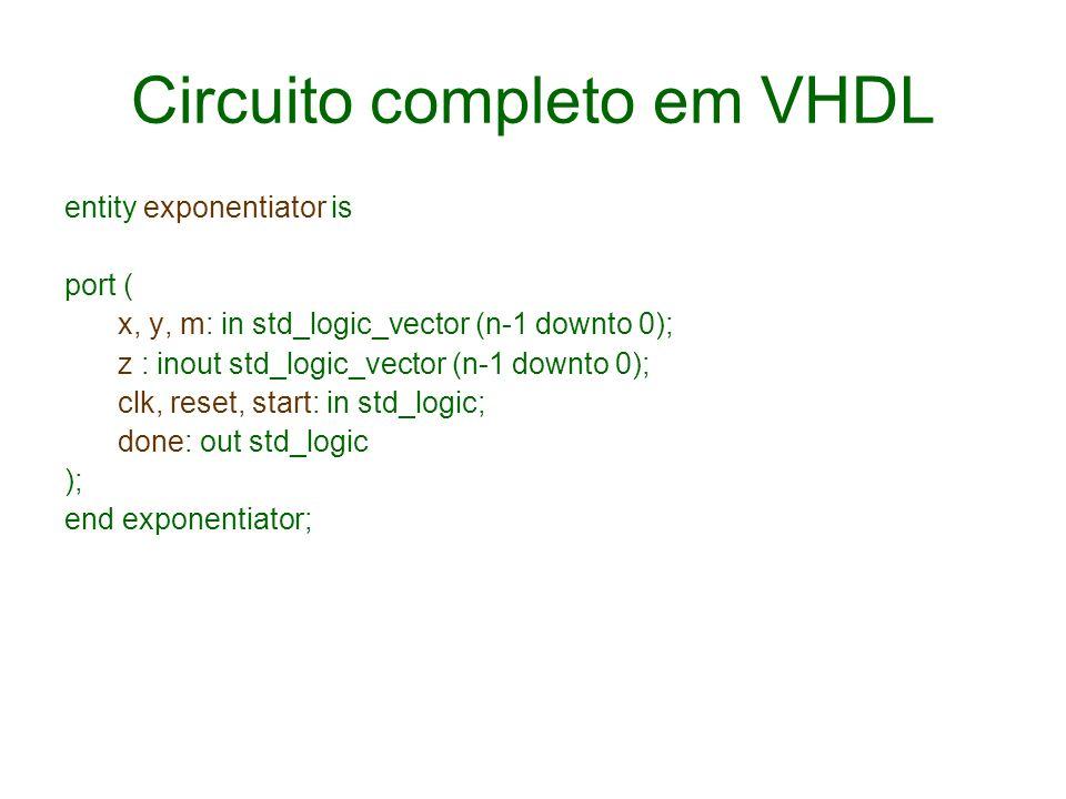 Circuito completo em VHDL