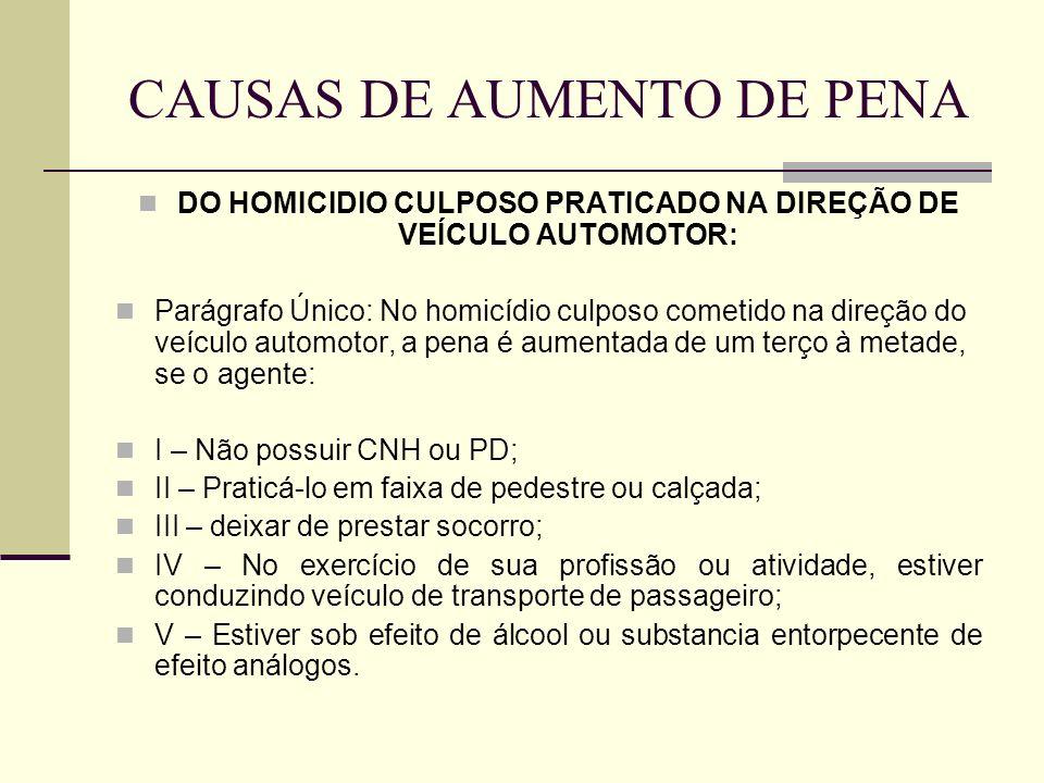 CAUSAS DE AUMENTO DE PENA