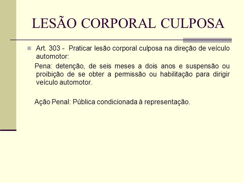 LESÃO CORPORAL CULPOSA