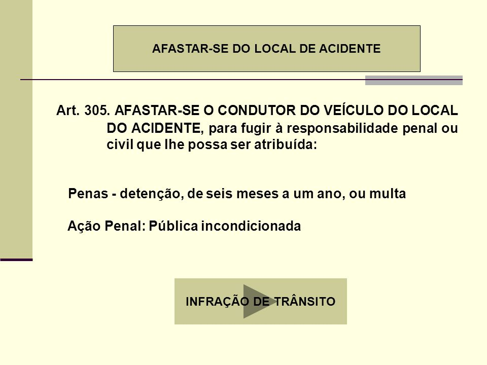 AFASTAR-SE DO LOCAL DE ACIDENTE