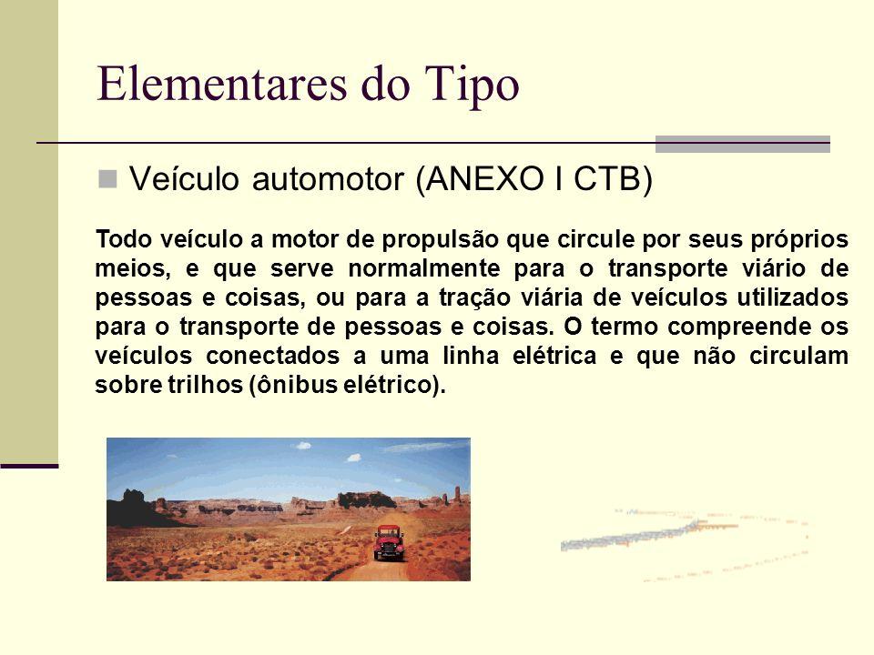 Elementares do Tipo Veículo automotor (ANEXO I CTB)