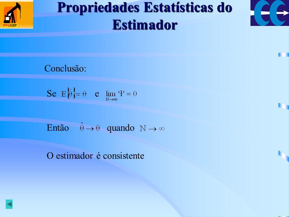 Propriedades Estatísticas do Estimador