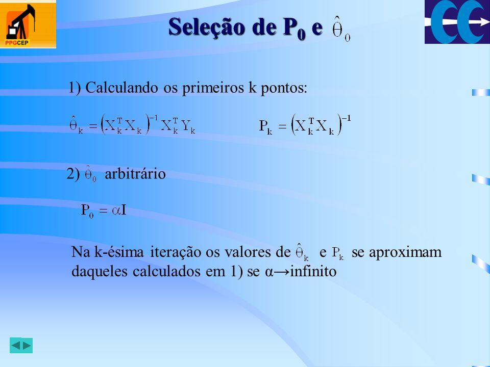 Seleção de P0 e 1) Calculando os primeiros k pontos: 2) arbitrário