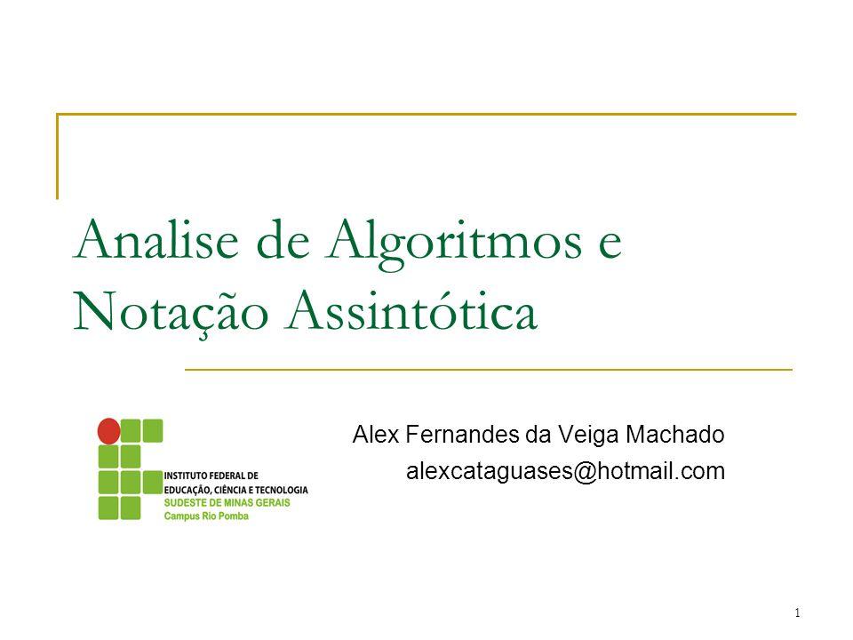 Analise de Algoritmos e Notação Assintótica