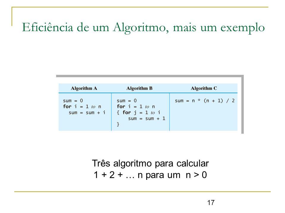 Eficiência de um Algoritmo, mais um exemplo