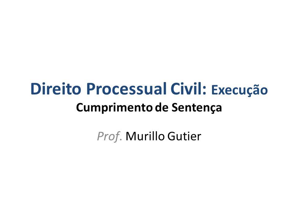 Direito Processual Civil: Execução Cumprimento de Sentença