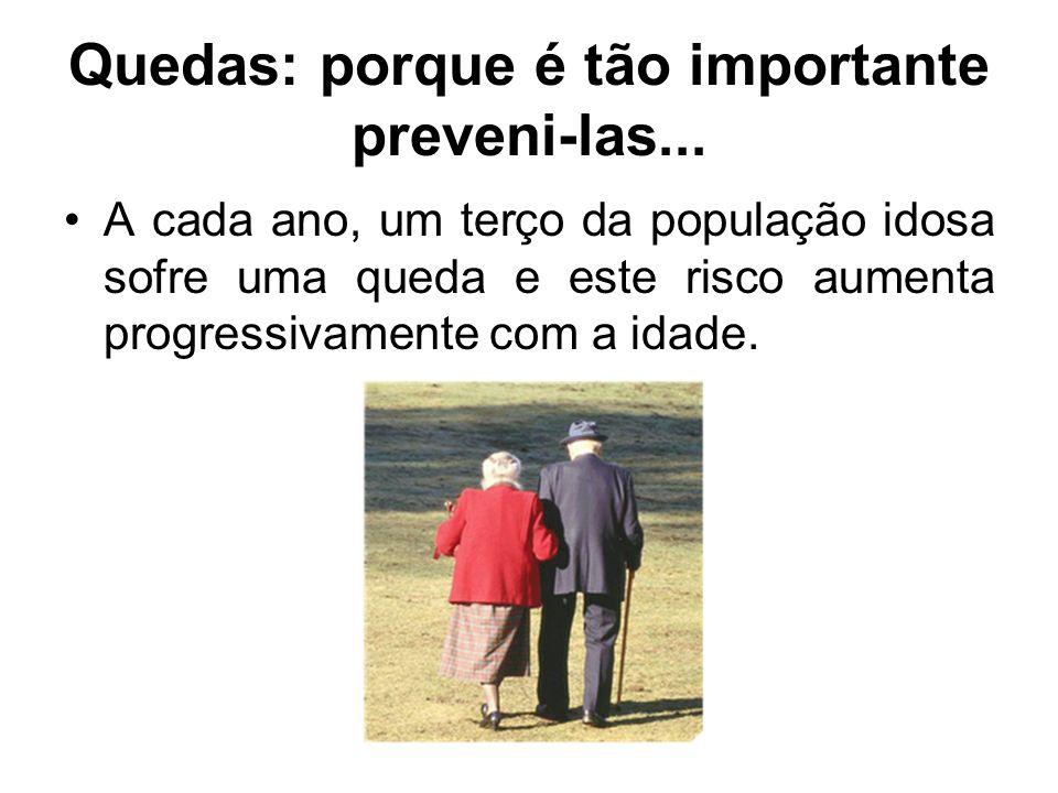 Quedas: porque é tão importante preveni-las...