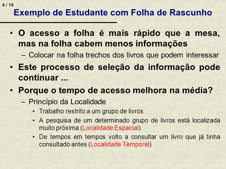 Exemplo de Estudante com Folha de Rascunho