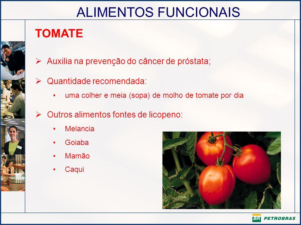 TOMATE Auxilia na prevenção do câncer de próstata;