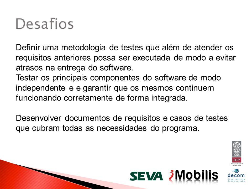 Definir uma metodologia de testes que além de atender os requisitos anteriores possa ser executada de modo a evitar atrasos na entrega do software.